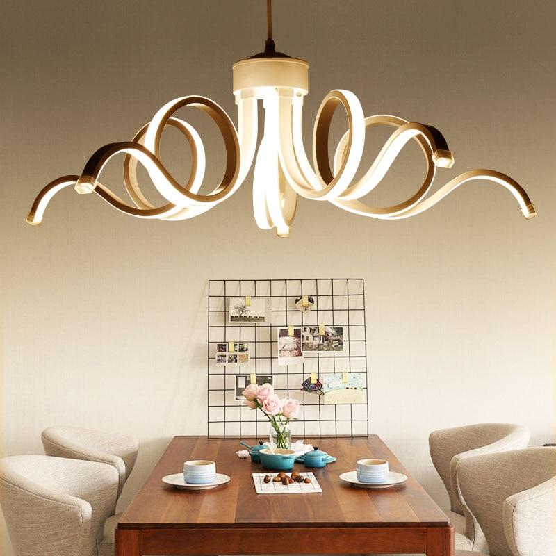 개인 아트 포스트 모던 거실 거실 아크릴 램프 디자이너 알루미늄 펜던트 램프 의류 숍 호텔 바 샘플