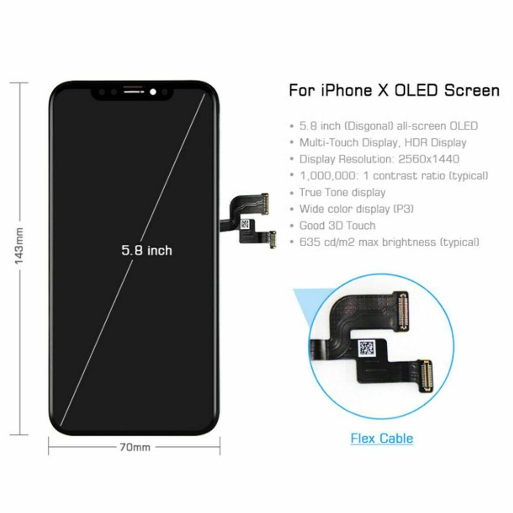 Image 4 - Grade AAA LCD Display Replacement For iPhone X OLED Quality LCD Module with Touch Screen Digitizer Assembly No Dead Pixel-in Mobile Phone LCD Screens from Cellphones & Telecommunications