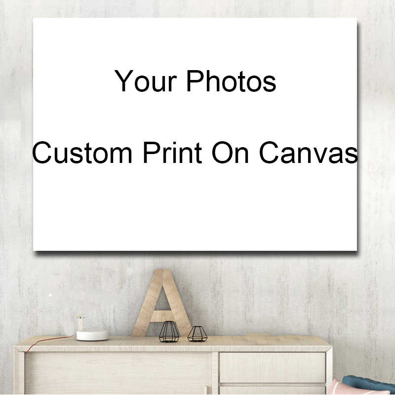 Custom Your Photos Print On Canvas Home Decorative Picture Prints And Posters For Living Room Cuadros Decor Drop Shipping