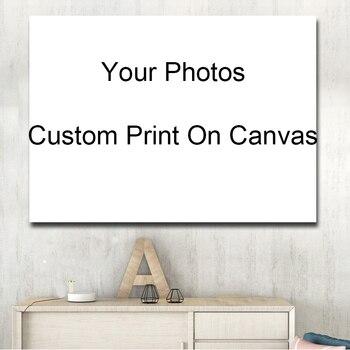 カスタムあなたの写真を印刷装飾画像プリントとポスターリビングルームのための Cuadros 装飾ドロップ無料