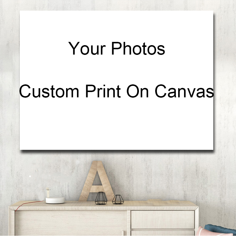Custom Your Photos Print On Canvas Spray Printing Home Decorative Picture Prints And Posters For Living Room Cuadros Decor