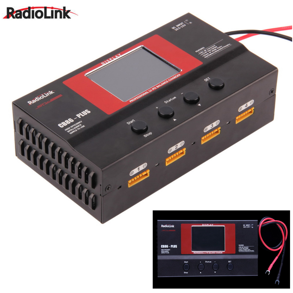 1pcs Radiolink Balance Charger CB86 Plus for 8pcs 2-6S Lipo Battery at one time Professional For RC Lipo Battery radiolink balance charger cb86 plus for 1s 6s lipo battery for rc helicopter