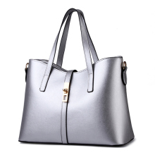 цены Fashion Silver Color PU Women Handbag Cusual Office Lady Shoulder Bag Lock Crossbody Messenger
