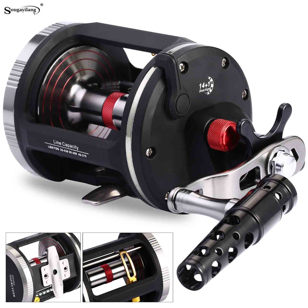 Sougayilang Strong Trolling Reel Fishing Tackle 14+1BB Right Hand Casting Sea Fishing Reel Baitcasting Reels Coil De Pesca wosawe 2017 winter men women thermal cycling base layer compression mountain bike warmer underwear long sleeve cycling jersey page 1