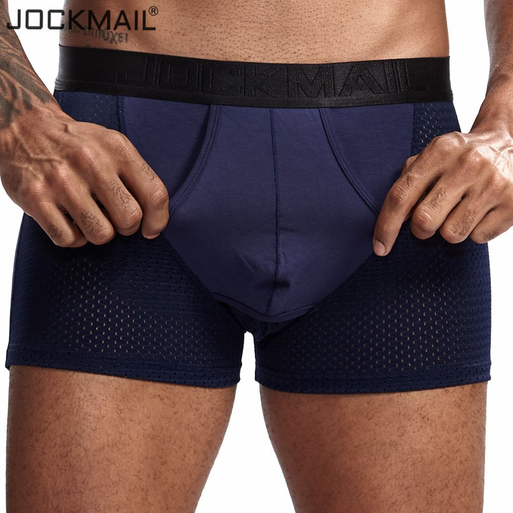 JOCKMAIL Men/'s Modal soft Underwear Scrotum Care Youth Health Pouch Boxer Trunks