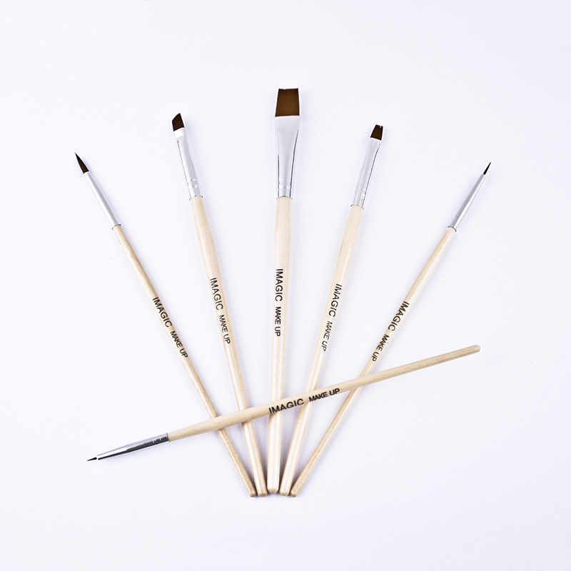 6Pcs Body Paint Makeup Brushes Set Painting Face Brush Tools Wood Handle Halloween Cosmetic Art Kit 789(China)