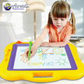 Abbyfrank 44cm*38cm Magic Painting Magnetic Drawing Board With Magic Pen Toys Kindergarten Preschool Reusable Creative Toy