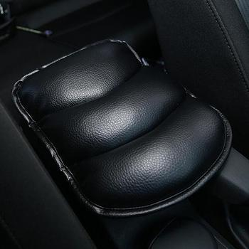 Car Soft Faux Leather Armrest Consoles Seat Covers Pad Vehicle Cushion Pillow image