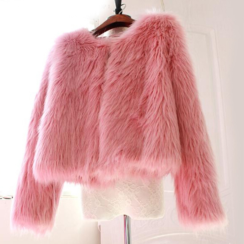 Aliexpress.com : Buy LALA IKAI Women Long Furry Fox Fur Coat ...