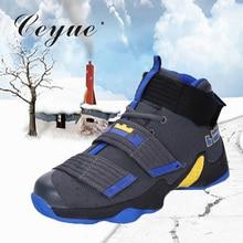 Ceyue Баскетбольная обувь мужские кроссовки Lebron James Обувь На Шнуровке ботильоны с воздушной подушкой Противоударная корзина homme baloncesto