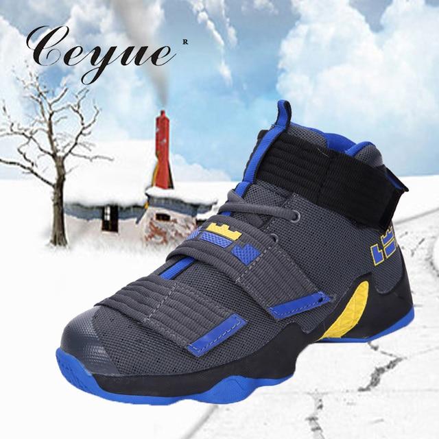 ac50ead4 Ceyue 2019 zapatos de baloncesto hombres zapatillas Lebron James zapatos de  encaje hasta los tobillos cojín