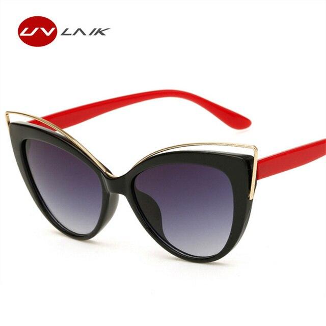 8f5dbdbf1 الفاخرة سحر القط العين النظارات الشمسية أزياء المرأة خمر نظارات شمسية أنيقة  منحنى تصميم نظارات الرجعية