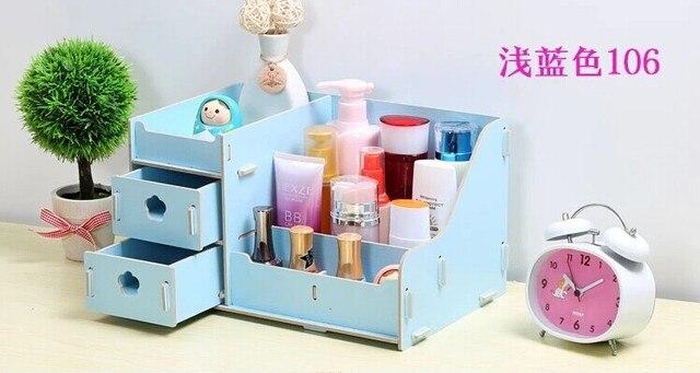 Easy Clean House And Office Desk Wooden Makeup Organizer Diy Wood - Escritorios-de-nias