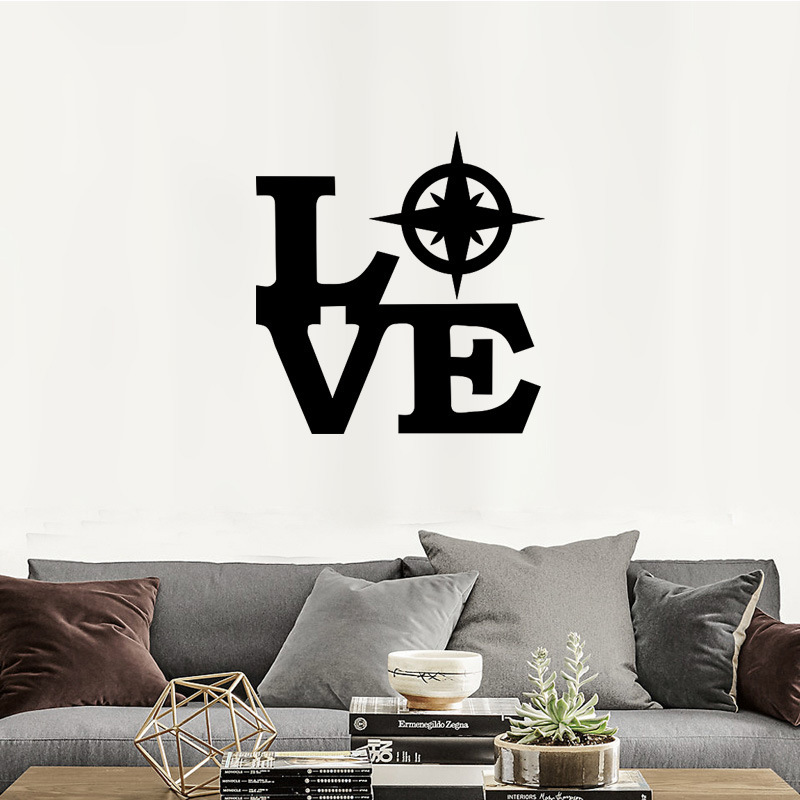 Wall Decor Sticker Letters Love With Statue Of Liberty Sticker Mural Decal,Retro  Art New York Wall Stickers Free Shipping