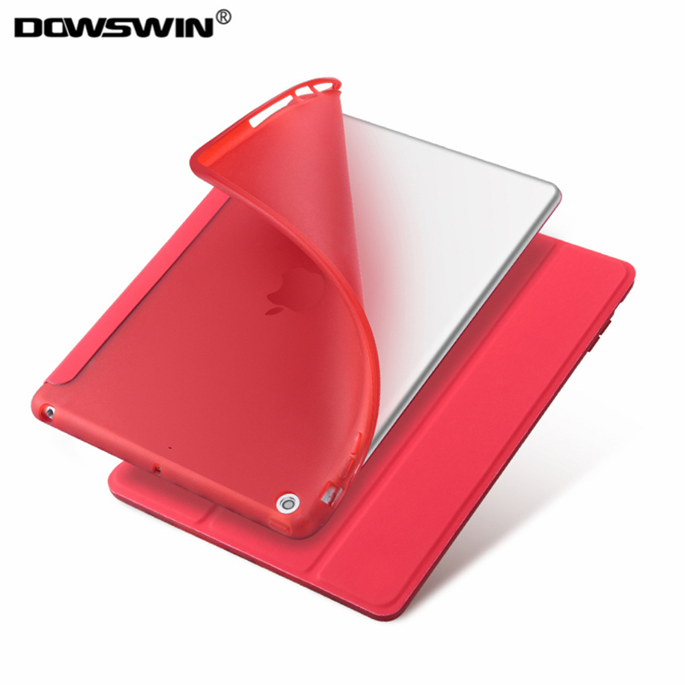 for new ipad 9.7 2017 case,DOWSWIN PU smart front cover TPU soft back cover for ipad 9.7 can wake up sleep for new ipad 9.7 2018