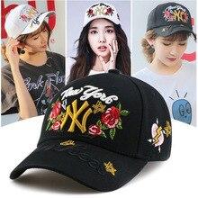 ny baseball cap Baseball Hat Ny Hats Rose Peaked Cap Men And Women Hip-hop