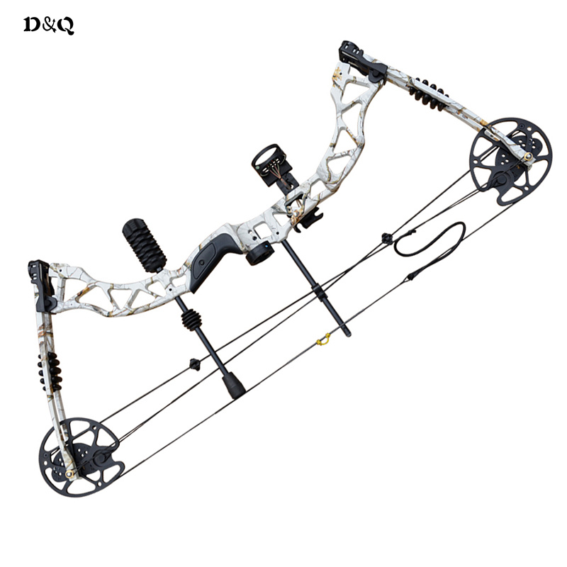Adjustable 35-70lbs Compound Bow Set for Right Hand Hunting Shooting Competition Sport Camouflage Slingshot Bow with Accessories