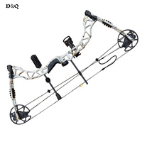 Adjustable 35 70lbs Compound Bow Set for Right Hand Hunting Shooting Competition Sport Camouflage Slingshot Bow with Accessories