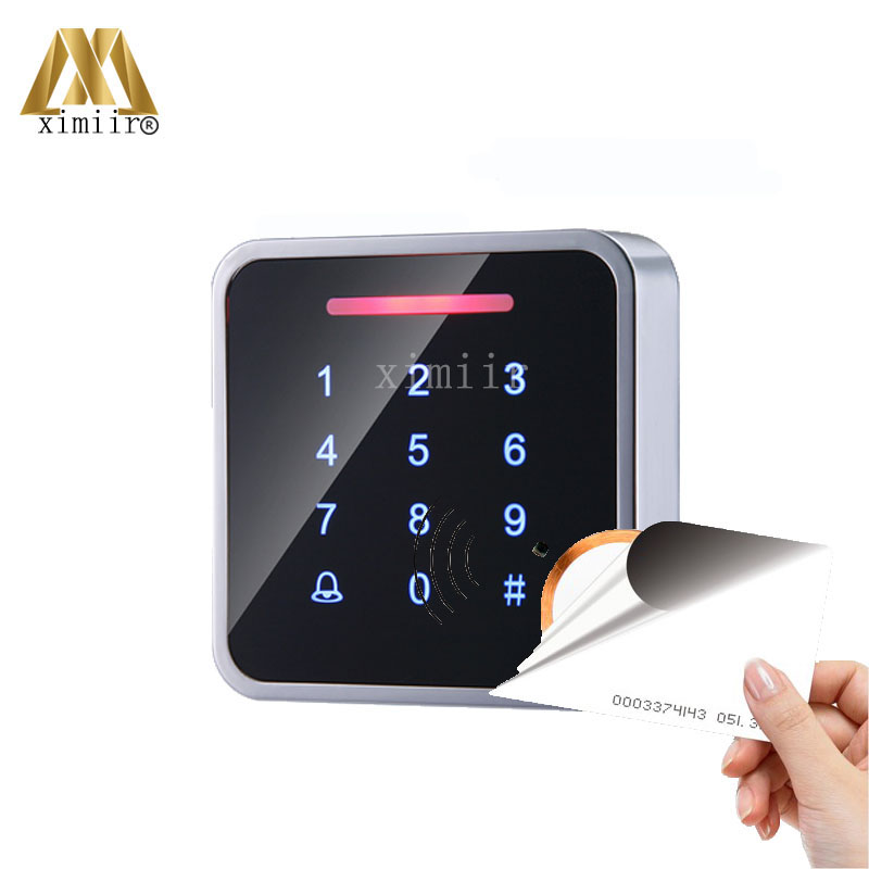 Touch Waterproof Screen 125KHZ RFID Card Access Control Reader Standalone Single Door Access Controller Smart ID Card Reader