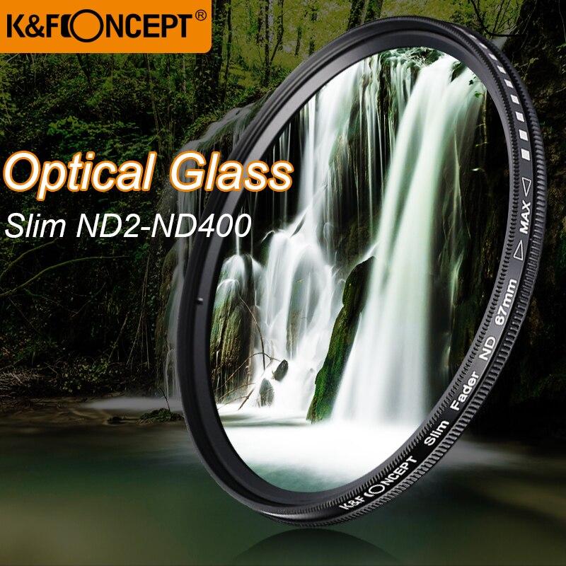 K & F CONCEPT Mince ND2-400 Densité Neutre Fader Variable ND Filtre En Métal Cadre Optique Lentille En Verre Réglable 52/ 55/58/67/72/77mm