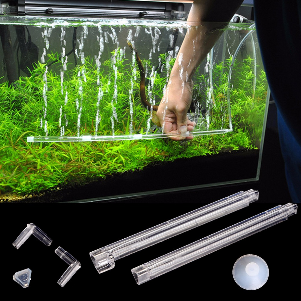 Aquarium fish tank bubble air curtain - Plastic Aquarium Fish Tank Curtain Air Vent Bubble Bar Release Diffuser Set Aquario Accessory China