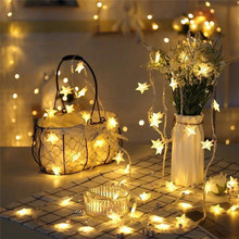 NEW 20/30/50 LED Star fairy Solar Lamp Power LED String Fairy Lights Solar Garlands Garden Christmas Wedding Decor For Outdoor 2m 20 led solar solar led string light mason jar lid lamp xmas outdoor garden decor christmas holiday decoration lamp 1567