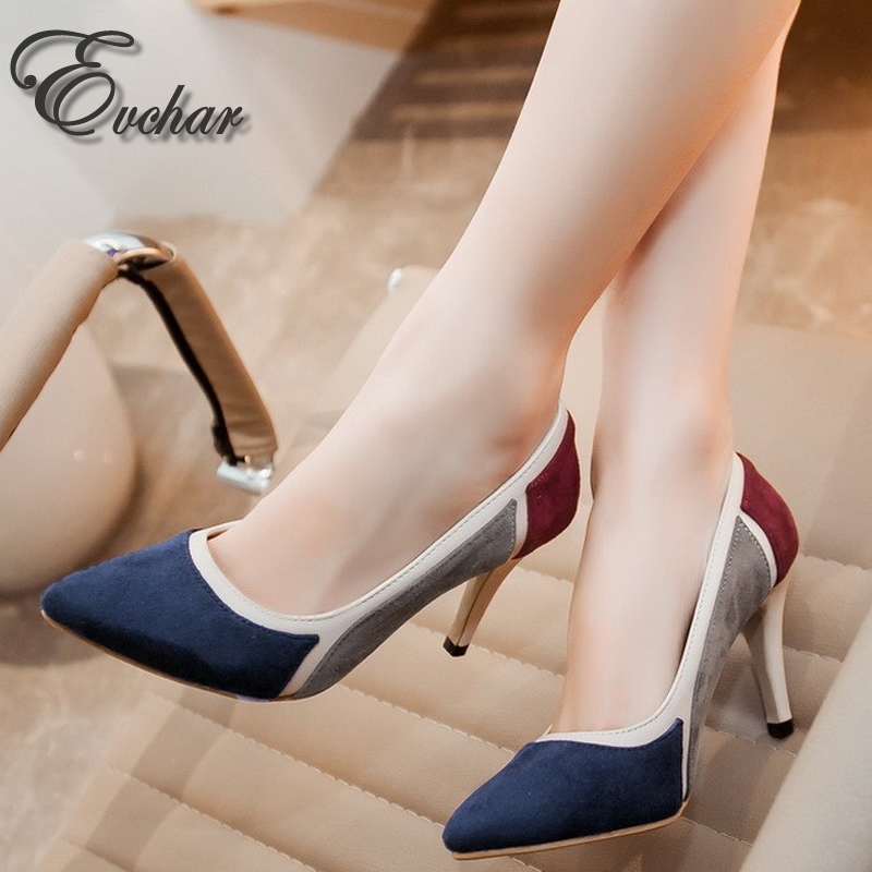 NEw fashion mixed color pointed toe Thin High heels woman shoes spring/autumn sexy wedding Female simple women's Pumps size33-43 big size sale 34 43 new fashion sexy pointed toe women pumps spring summer autumn high heels ladies wedding party shoes 6629