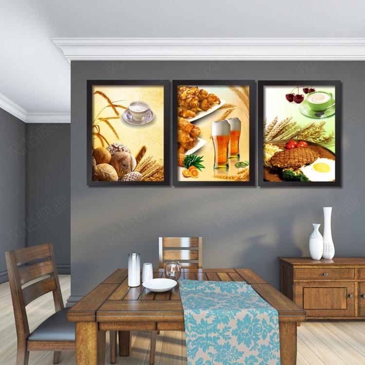 Restaurante pinturas decorativas pintura moderna cocina tea barbacoa ...