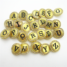26pcs/lot Crystal Gold A-Z Alphabet Snap Buttons fit 18mm Ginger Letters Button Snap Bracelet&Bangles DIY Snap Jewelry Charms 20pcs 50pcs lot kcd4 31 25mm 4pin 16a 250v snap in dpst on off position snap boat rocker switch copper feet