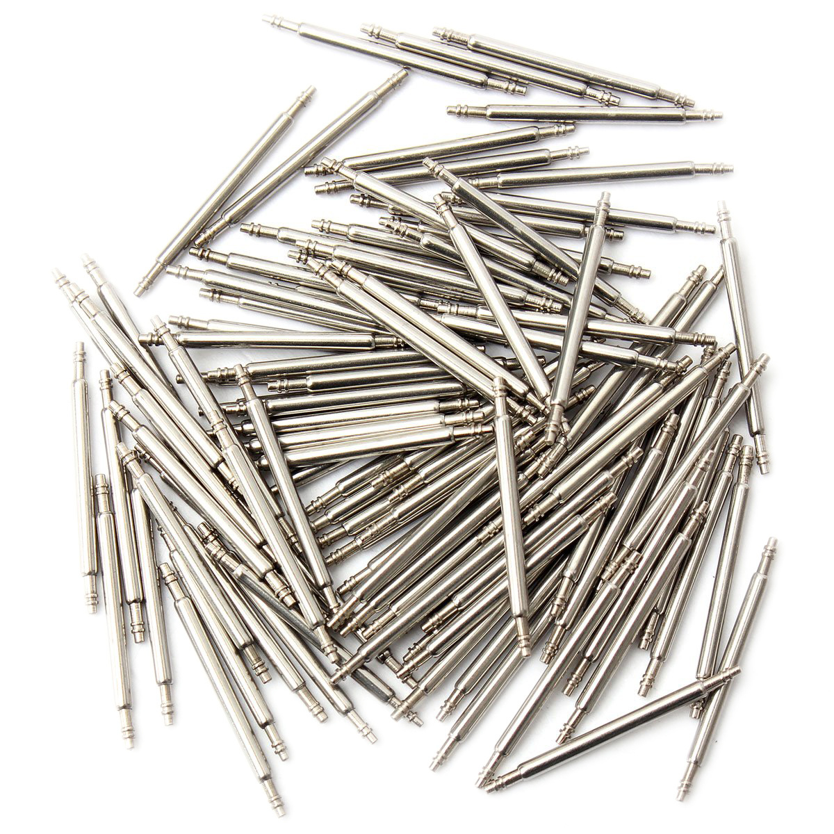 100 Pcs Spring Bar Stem Wristwatch Clock Repair Remover Tool 21mm