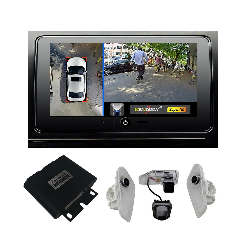 1080 p Super HD 360 Bridview Système de Moniteur De Voiture Vue Panoramique Tout autour du système de Caméra de Vue avec DVR record lexus NX EX RX
