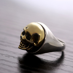 Image 3 - ZABRA 925 Sterling Silver Rose Gold 18mm Skull Ring for Women Mens Personality Biker Vintage Punk Jewelry aneis de prata 925