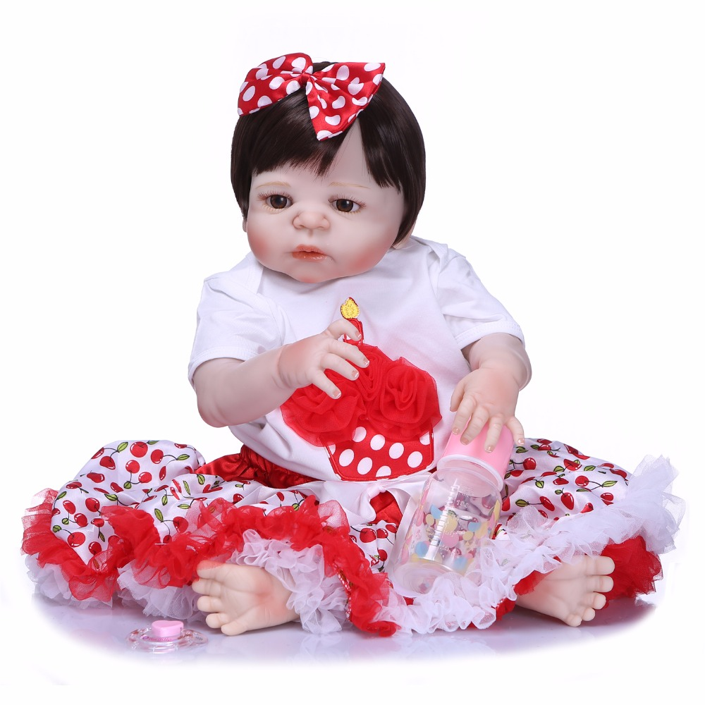 Bebes reborn silicone doll toys 23 57cm princess girl reborn babies  dolls toys for child birthday gift boneca juguetesBebes reborn silicone doll toys 23 57cm princess girl reborn babies  dolls toys for child birthday gift boneca juguetes