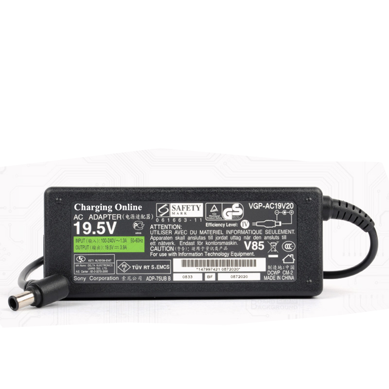 Charger For 19.5V 3.9A Adapter Power Supply For VAIO VGP-AC19V19 VGP-AC19V20 VGP-AC19V27 VGP-AC19V37