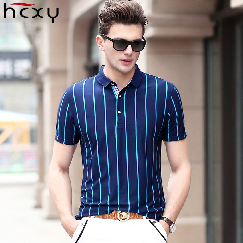 HCXY 2019 High quality Summer Men's Short-sleeved   Polo   shirt Men   polo   shirts Male Vertical stripes Commercial Smart casual