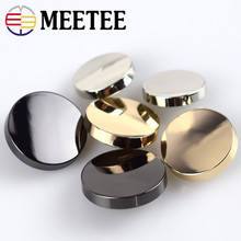 10pcs Meetee Metal Buttons 12-28mm Flat Shank Buckle for Sewing Shirt Jacket Coat DIY Men Women Clothing Scrapbooking Craft E3-1