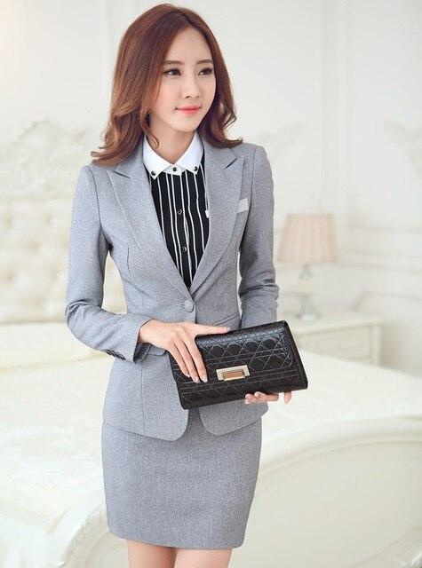 novelty grey plus size 4xl uniform style blazer suits with jackets