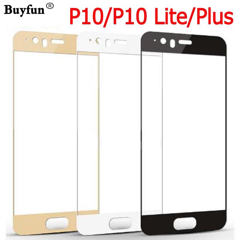 Sur pour Huawei P10 P 10 P10 Plus P10 Lite léger protecteur d'écran en verre trempé Premium Tremp Glas P10Lite couverture Film de protection