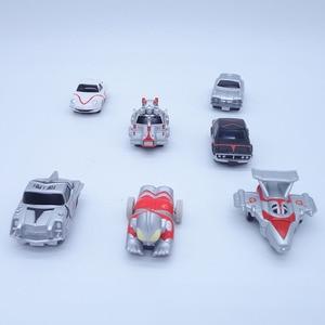 Image 5 - Anime 1/16 Scale Painted Figure Ultraman Cars 7pcs/set Mini Action Figures Inertia Carriages PVC figure Toys Brinquedos 5CM