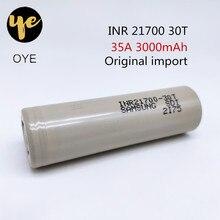1 шт. для samsung INR21700-30T 30 т 21700 3000 мАч 35A 3,7 В перезаряжаемый аккумулятор с плоской вершиной PK NCR21700A