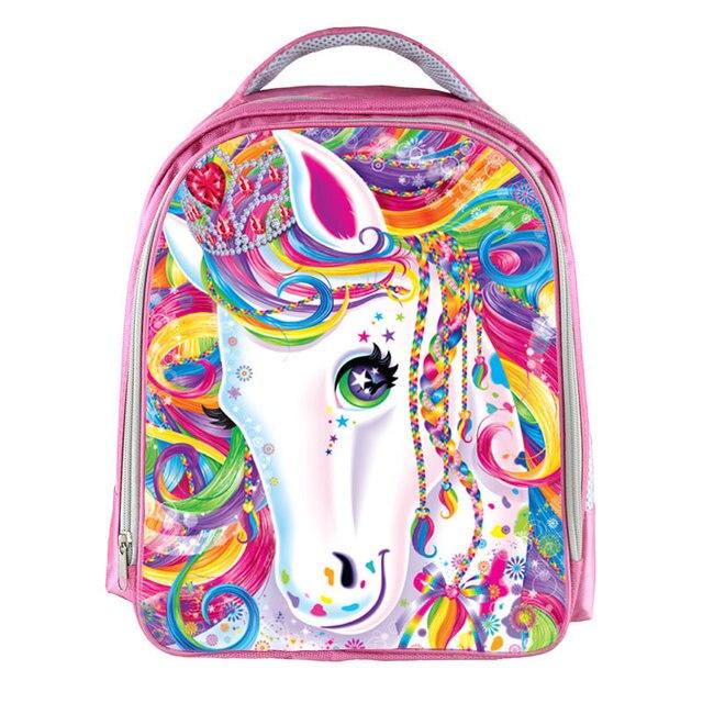 Fantasy Animal Colorful Unicorn Backpack Angel Cat Girls Bookbag