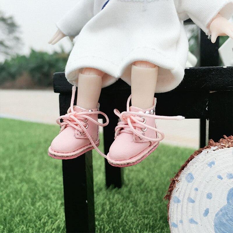 Blyth Shoes OB11 Shoes Short Boots With Rivet Design For OB11 1/12 BJD Shoes 1/8 BJD Blyth Shoes For Dolls Accesories