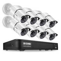 ZOSI HD 8CH 1080P 2.0MP Security Cameras System 8*1080P Indoor/Outdoor Night Vision CCTV Home Security System Surveillance Kit