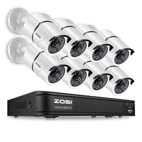 ZOSI HD 8CH 1080P 2 0MP Security Cameras System 8 1080P Indoor Outdoor Night Vision CCTV
