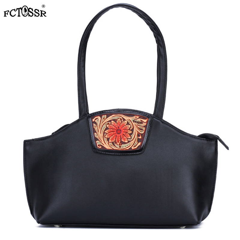 Handmade Original Ethnic Style Lady Tote Bag Foreskin Carving Flower New Shoulder Bag High Capacity Female HandbagHandmade Original Ethnic Style Lady Tote Bag Foreskin Carving Flower New Shoulder Bag High Capacity Female Handbag