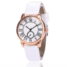 Women Luxury Brand 1-eye Roman Scale Leather Watch Ladies Fashion Casual Quartz Watch Girls Dress Wristwatch Relogio Feminino lvpai brand fashion casual silver luxury 9 color women roman leather band analog quartz watch girls lady hour clock wristwatch
