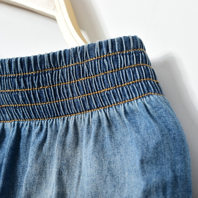 Home   Boy s Clothing   2017 new summer style girl denim tutu mini skirts  children layered jeans kids clothes pettiskirt 8 10 12 14 16T years old 81973beb78f9