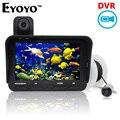 Eyoyo original 20 m profesional de la visión nocturna dvr video 6 led infrarrojo cámara pesca submarina buscador de los pescados + overwater cámara