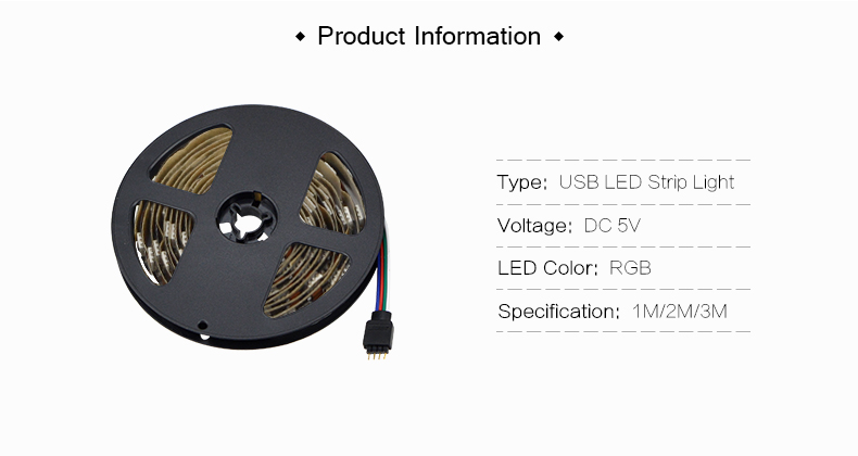 HTB1IFwKbdfvK1RjSszhq6AcGFXa1 1M 2M 3M LED TV Backlight RGB Neon lamp 5050SMD LED Strip Light For TV HDTV background Lighting with 24 keys remote control