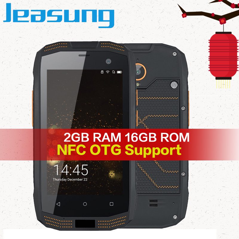 Jeasung A2 IP68 téléphone robuste étanche 2 GB RAM 16 GB ROM NFC OTG Android 5.1 Quad Core 8.0MP 1280*720 2600 mAh 4G FDD-LTE Cellulaire